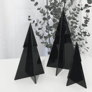 albero di natale in plexiglass nero lucido